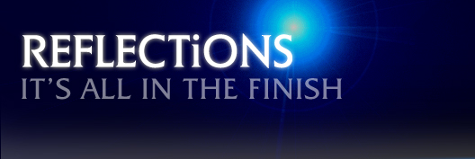 Reflections logo: All in the Finish